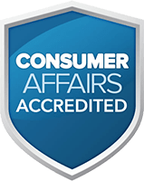 Consumer Affairs Accredited.